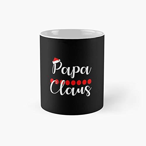 Taza clsica de Pap Noel con gorro de Pap Noel, taza de caf divertida de 325 ml
