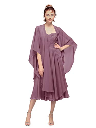 AW BRIDAL Shawl Wrap Chiffon Scarf for Evening Party Dress Wedding Stole Cape Cover Up Msauve Mist
