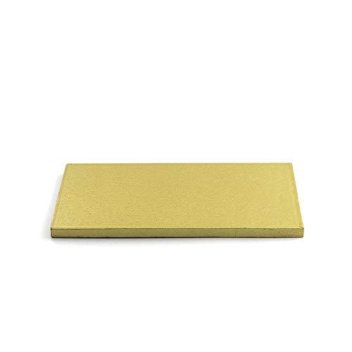 Decora 0931709 RECHTECKIGE TORTENPLATTE Gold cm 30X40X1,2 H