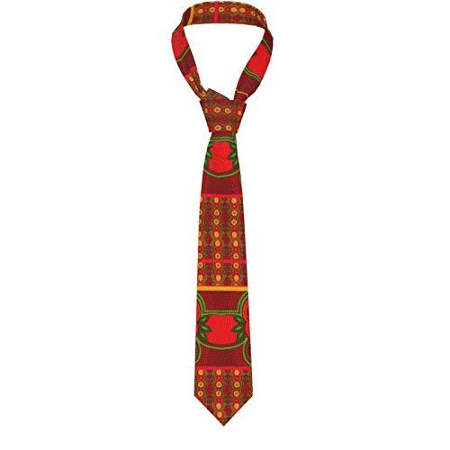 Anillo de corbata para hombre, diseño de flores, a cuadros, color rojo y dorado, corbata clásica para hombres y mujeres
