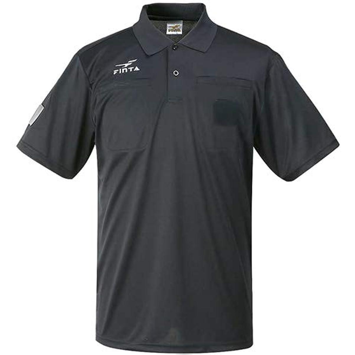 あいまいなかもめ次へ[フィンタ] メンズ サッカー 半袖レフリーシャツ ブラック FT5162 0500