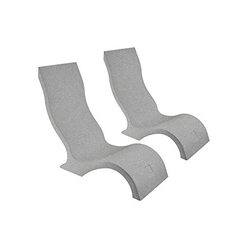 Ledge Lounger in-Pool Chair for 0-9 in. of Water (Set of 2, Granite Gray)