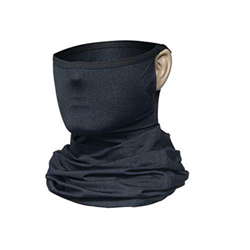 Onundon sjaal bandanas halsmanchet met oorbellen multifunctionele gezichtsbedekking halsdoek voor mannen vrouwen sport / outdoor