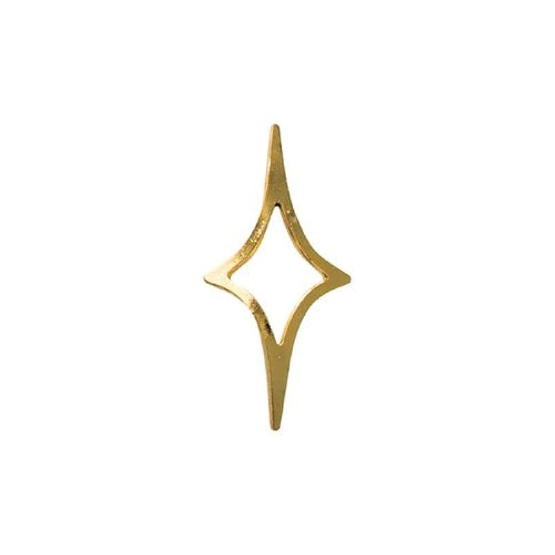 記念日キロメートルピケリトルプリティー ネイルアートパーツ キラキラ 4S ゴールド 50個
