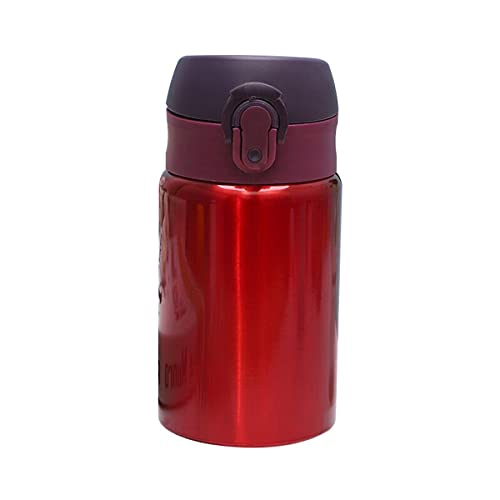 Mosako - Botella de agua de acero inoxidable para agua caliente sin BPA, 300 ml, apta para la escuela de deporte al aire libre (rojo)