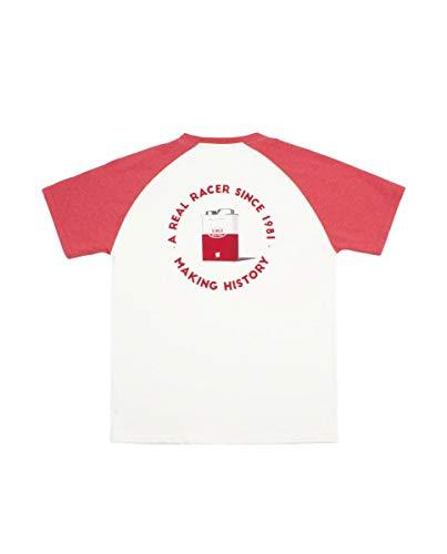 Kimoa Camiseta Oil Can, Unisex Adulto, Beige, L