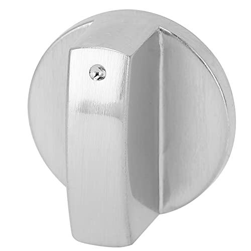 GAESHOW - Perilla para Estufa de 8 mm, aleación de Zinc, Universal, para Horno, Cocina, Control, dial, Perilla, Adaptador, Plateado