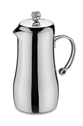 Amazing Deal Café Stal MPC-12DW Elements Stylish Double Wall Cafetiere with Cool Touch Wire Handles, 18/10 Stainless Steel, Mirror Polished