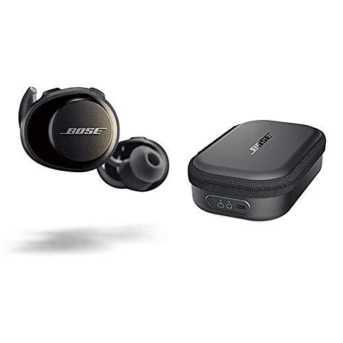 Bose 774373 SoundSport Free Cuffie Wireless, Bluetooth, Controllo tramite App (iOS/Android), Nero (Triple Black) & SoundSport Custodia per il trasporto con funzione di ricarica, Nero