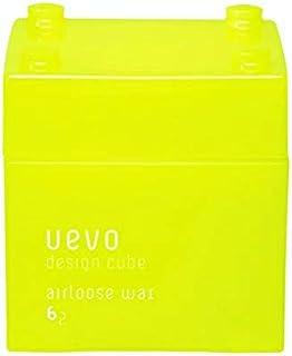 ウェーボ デザインキューブ (uevo design cube) エアルーズワックス 80g ヘアワックス 80グラム (x 1)