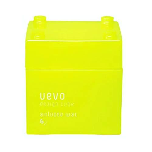 ウェーボ デザインキューブ (uevo design cube) エアルーズワックス 80g ヘアワックス 80グラム (x 3)