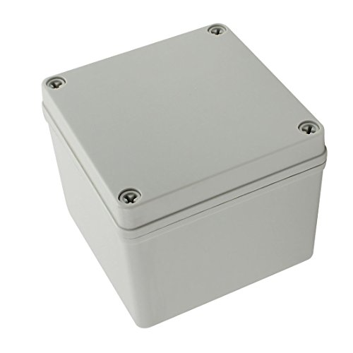 YXQ 125 x 125 x 100mm Electrical Project Case Junction Box IP65 Waterproof ABS DIY Power Outdoor Enclosure Gray (5 x 5 x 4 inches)