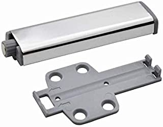Hardware Slim Brushed Nickel Drawer Cabinet Door Cross Push Touch Latch Kitchen Home with Magnetic Tip for Cabinet Door Drawer Catch Latch(5pack)