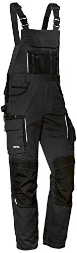 Uvex Tune-up Männer-Cargohose - Latz-Bundhose für die Arbeit - Schwarz - 58