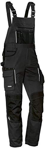 Uvex Pantalones Cargo Tune-up para Hombre - Pantalones con Peto para el Trabajo - Negro - 46