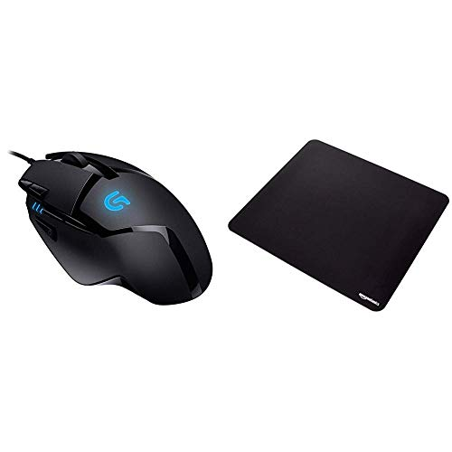 Logitech G402 Souris GamingHyperionFury Noir (910-004068) & Amazon Basics Tapis de Souris Gaming Taille XXL