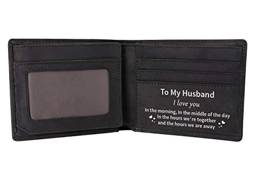 Personalized Leather Wallet For Son,Engraved RFID Blocking Bifold...