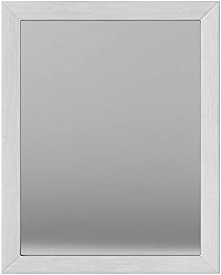 AmazonBasics Rectangular Wall Mirror 41 x 51 cm - Standard Trim, Nickel