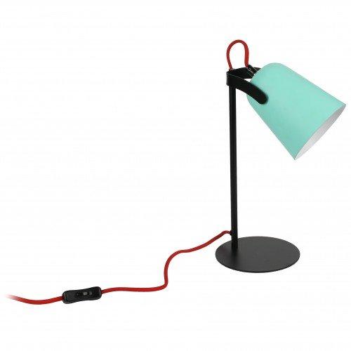 Neoly ILA3951196 Lampe à Poser, Métal, Vert/Noir, 17 X 17
