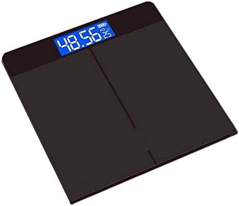 GFHFG Tempered Glass Digital 5 Award-winning store ☆ popular Body USB Scale LCD Weight Charging