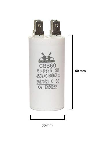 ELECTROFIT CBB60 6 uF 450V bedrijfscondensator motor start condensator voor airconditioning, compressoren en elektromotoren