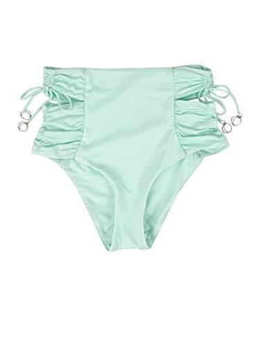 Soluna Women's Under The Sun High Waist Bikini Bottom Fresh Mint L