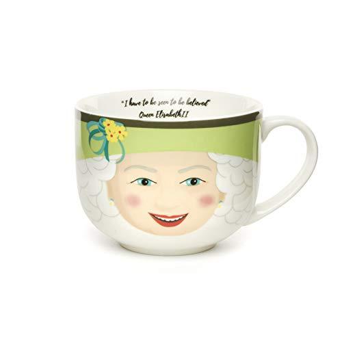 Kikkerland Taza grande Mug Reina Queen Elizabeth II Porcelana
