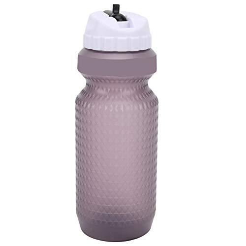 Keenso Sportwasserflasche, Große Kapazität Outdoor-Trinkflasche Tragbare Reitwasserflasche für Fahrrad Radfahren Camping Laufen Auslaufsicher(Weiß)