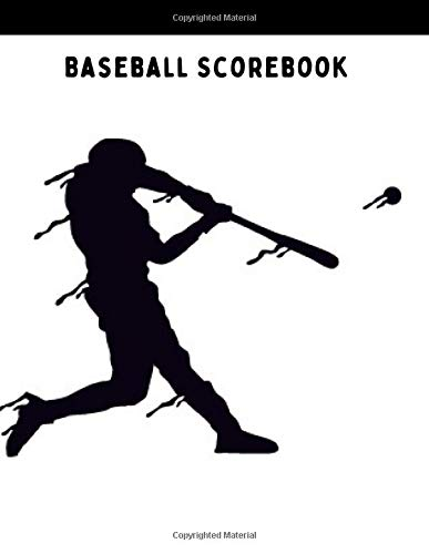 Baseball Scorebook: Softball or Baseball Scorebook with 107 Large Score Pads for Scorekeeping   Baseball Game Record Keeper Book, Baseball score card ... spaces on which to record, Size 8.5 x 11 Inch