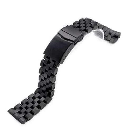 Bracciale per orologio Strapcode 22mm Super Engineer II in acciaio inossidabile 316L per Seiko New Turtle SRPC49K1, SRP777, V-Clasp Button Double Lock PVD