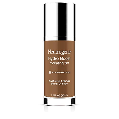Neutrogena Hydro Boost Hydrating Tint with Hyaluronic Acid, Lightweight Water Gel Formula, Moisturizing, Oil-Free & Non-Comedogenic Liquid Foundation Makeup, 135 Chestnut Color 1.0 fl. oz