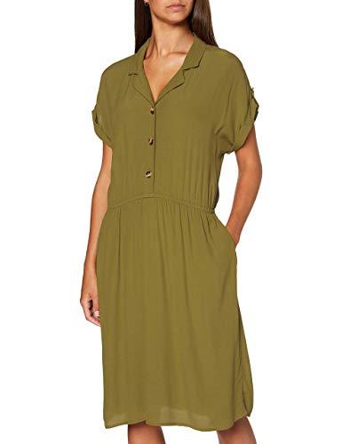 Esprit 060EE1E341 Robe, 360/olive, 40 Femme
