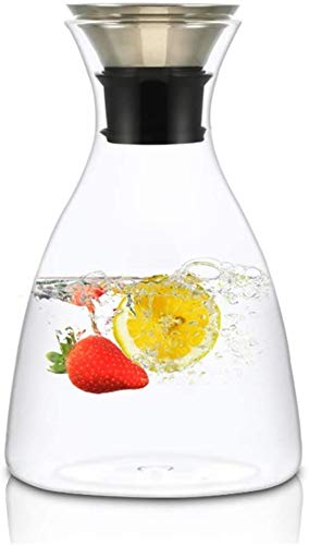 Tetera de cristal Tetera Taza Tetera de vidrio en frío la caldera del agua de la botella de limonada for uso doméstico grande jugo Capacidad danesa Pot Conjunto de resistente al calor ya prueba de exp