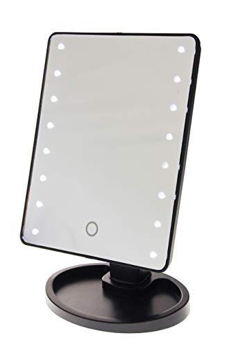 United Entertainment make-up spiegel LED 29 x 17 cm zwart