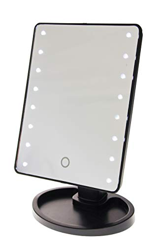 United Entertainment - Touch Screen make-up spiegel met LED-lampen - zwart