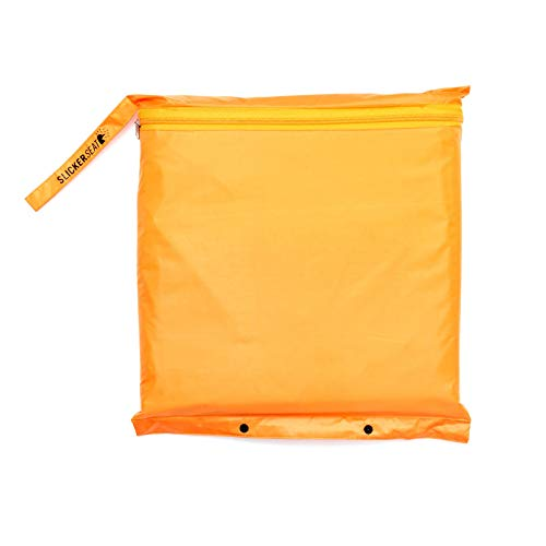 Slicker Seat Unisex Raincoat - Built-In Portable Poncho w/Stadium Seat Cushion -...