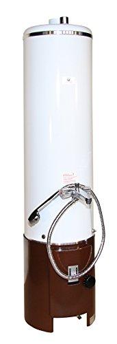 Wittigsthal Badeofen 100 Liter inkl. Armatur und Unterofen Farbe: Standard weiß