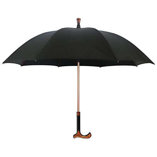 Bastón para caminar con sombrilla, Aluminio, Bastón ajustable liviano para caminar, Equilibrio, antideslizante, Multifunción, Muletilla, Paraguas, Hombres, Mujeres, Regalo, Muletilla, Paraguas de golf 🔥