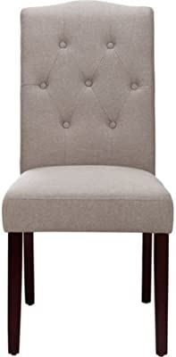 Better Homes And Gardens Parsons Tufted Dining Chair Taupe Chairs