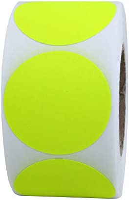 Top 10 Best round blank fluorescent yellow shooting target pasters | 500 adhesive