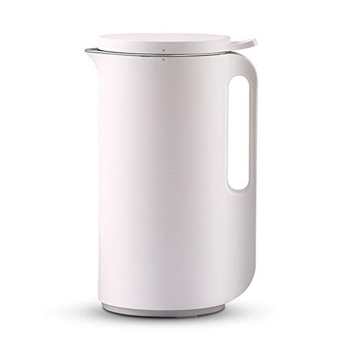 Automatische Soja-Bohne-Milch-Maschinen Edelstahl Leistungsstarke Wandbrechkochmaschine Elektro Kein Filter Heizung Entsafter (Color : White, Size : 220V)