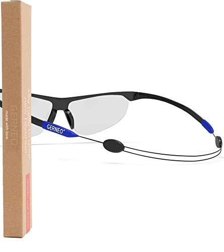 GERNEO® - Sujeción segura – Correa ajustable para gafas deportivas – Correa de gafas y cordón para deportes – Correa impermeable para gafas hombre y mujer – Sujeción fiable
