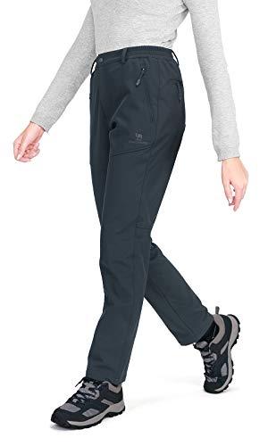 CAMEL CROWN Outdoor Damen Softshell Fleece gefüttert Walking Hose wasserdicht Winddicht Warm Winter Hose