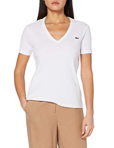 Lacoste Tf5457 Camiseta, Blanco, Blanca, 38 para Mujer