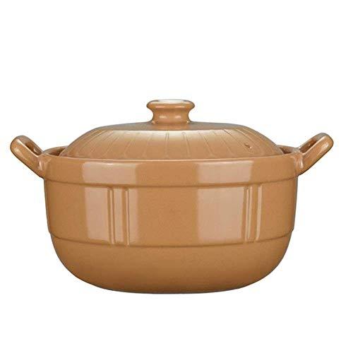 zyl Schmortopf aus Ton, Keramik-Kasserolle – Freisetzung von Spurenmineralien, gute Temperaturaufbewahrung, leicht zu reinigen, Kapazität 3 l
