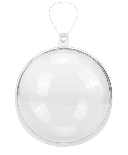 Glorex 6 3500 007 - Kunststoff-Kugel, Durchmesser 16 cm, transparent glasklar, teilbar in 2 Hälften, zum Befüllen und Dekorieren, mit Loch zum Aufhängen