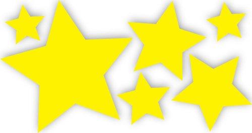 10 Stück selbstklebende, gelbe Sterne Autoaufkleber, Fensterdekoration Fensterbild/Fensteraufkleber, Wandtattoo Deko Sticker, Weihnachtsdekoration, Schaufenster In- und Outdoor 62s1