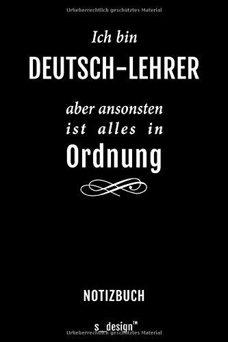 Notizbuch für Deutsch-Lehrer: Originelle Geschenk-Idee [120 Seiten kariertes blanko Papier]