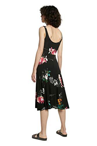 Desigual Vest_Nueva York Vestido Casual, Negro, XS para Mujer