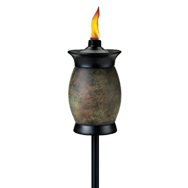 Tiki Brand 64-inch Resin Jar Torch 4-in-1 Stone Color